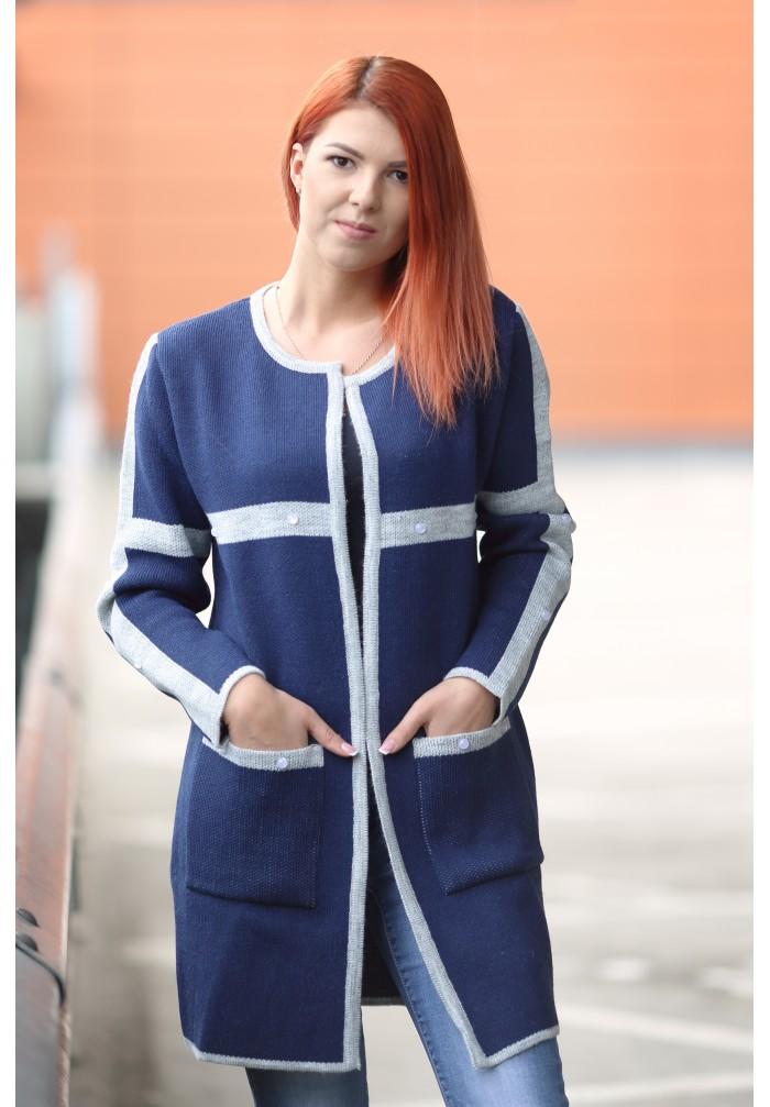 Moteriškas megztinis švarkelis R-786