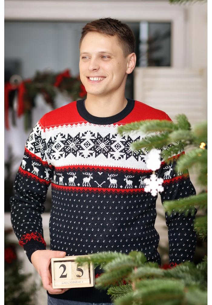 Vyriškas kalėdinis megztukas R-765