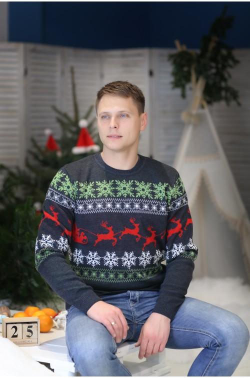 Vyriškas kalėdinis megztukas R-580