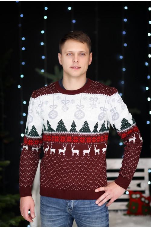 Vyriškas kalėdinis megztukas R-848